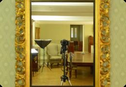 Gilt carved florentine framed mirror