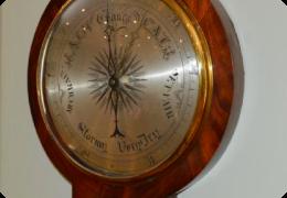 Victorian wheel barometer, mahogany