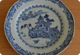 18th Century delft plate