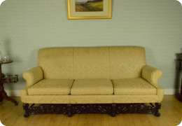 Edwardian, William & Mary style American Black Walnut sofa