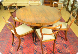 George IV Rosewood breakfast table