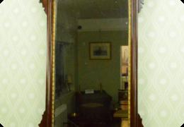 Victorian mahogany & parcel gilt wall mirror, Ho ho bird
