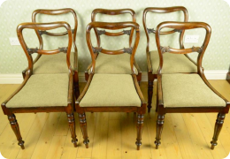 Set of six early Victorian Rosewood dining chairs