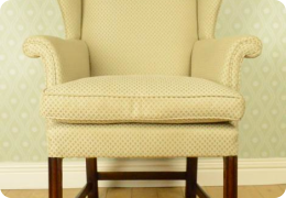 Victorian ladies wingback armchair