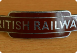 A British Railways Western Region enamel cap badge - J R Gaunt Made,