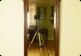 Edwardian mahogany pier mirror