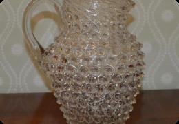 Victorian hobnail glass jug