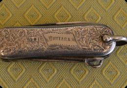 Silver gentleman's penknife, 1898