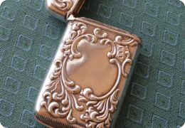 Sterling silver vesta case.