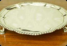 Solid silver salver, London 1767