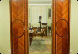 French kingwood triple door armoire, C1900