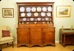 Georgian oak Anglesey dresser, C1780