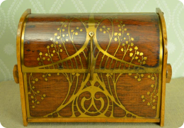 Rosewood Art Nouveau writing box, Erhard & Sohne.