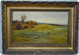 Oil on canvas Hector Chalmers C1880