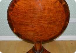 Mahogany plum pudding breakfast table, C1830