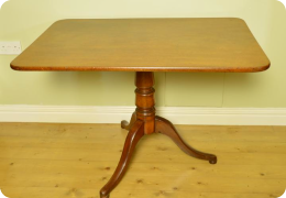 Mahogany tilt top table, C1830