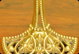 Late Victorian brass door porter