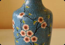 Chinese cloisonne vase, C1940