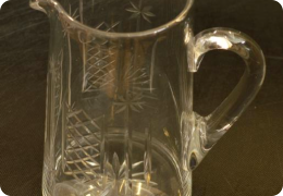 Edwardian cut glass water jug