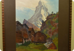 Watercolour of The Matterhorn