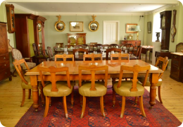 Victorian Golden Oak Dining Table & 8 chairs
