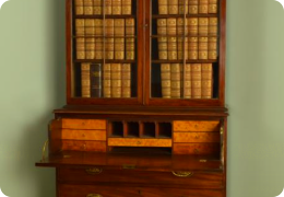 Georgian mahogany secretaire bookcase, C1810