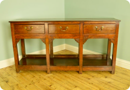 Small 18th Century Oak Dresser Base