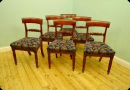 Six Mahogany Dining Chairs
