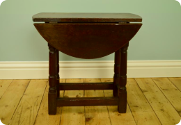 Small Oak Drop-leaf Table