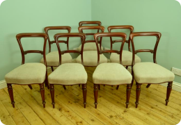 Set of 8 good mahogany dining chairs
