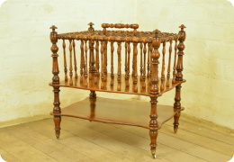 19th Century walnut Canterbury.