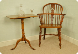 Yew wood and Elm Windsor Chair