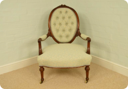 Fine Quality Louis XIV Style, antique Ladies Arm Chair