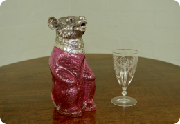 Cranberry Glass and Silver plate Claret jug