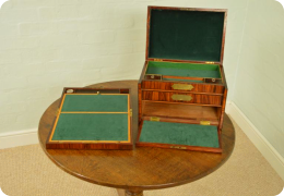 Georgian Kingwood Travelling Box, Antique C1815