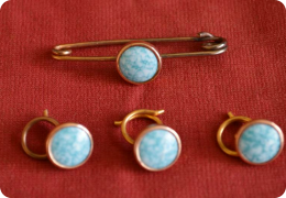 Edwardian tie pin and dress studs