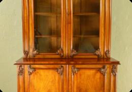 Mahogany Library Bookcase/Cabinet