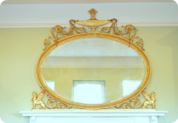 Superb 19th century Adams style overmantel