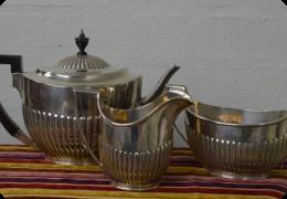 Solid silver teaset, Walter & John Barnard, 1891