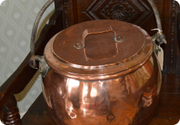 Large Copper 19th century Pot