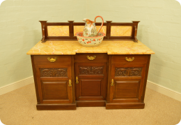 Edwardian Marble Topped Washstand