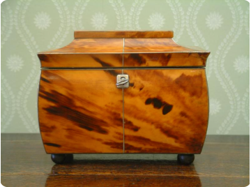 Georgian Tortoise shell tea caddy