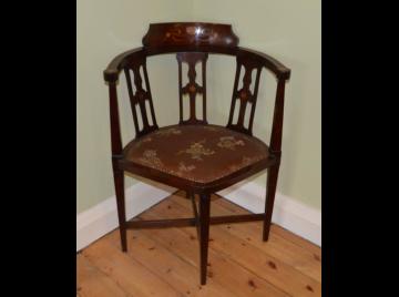 Art Nouveau corner chair