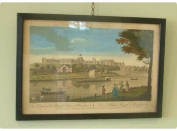 Robert Sayer print, 1740s, in ebonised frame