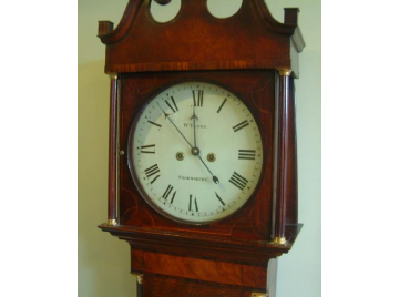 Oak longcase clock