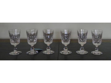 Six Edinburgh Crystal sherry glasses