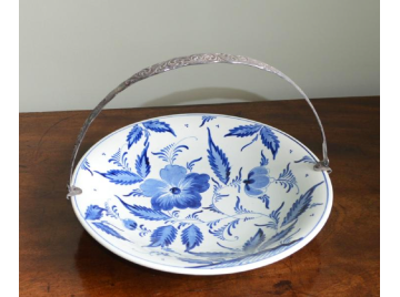Delft handled cake plate