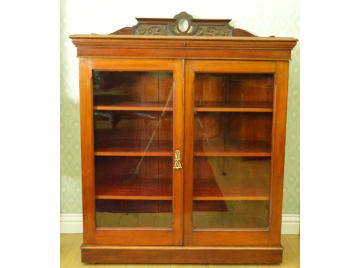 Victorian mahogany glazed bookcase