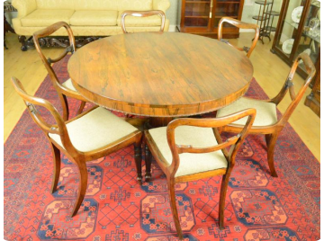 George IV Rosewood breakfast table