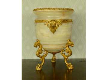 French ormolu & alabaster wine cooler
